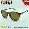 Round shape plastic OEM sunglasses with wooden brused