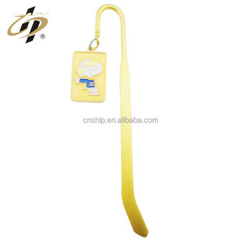 Wholesale Cheap Custom soft enamel gold plated metal bookmarks