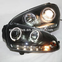 VW Sagitar Golf 5 MK5 LED Angel Eyes Head light 2003-2008 Year SN