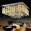 square modern crystal ceiling lamp