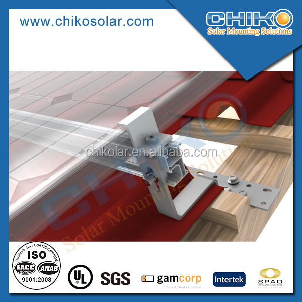 Tile roof solar panel roof mount for home solar panel installation