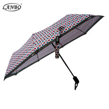 Special Fabric Material Auto Open and Close Safety 3 Fold Reflective Umbrella