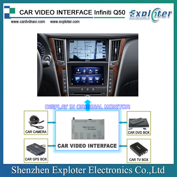 Customize Android Video interface GPS <strong>device</strong> For Infiniti Q50 2015