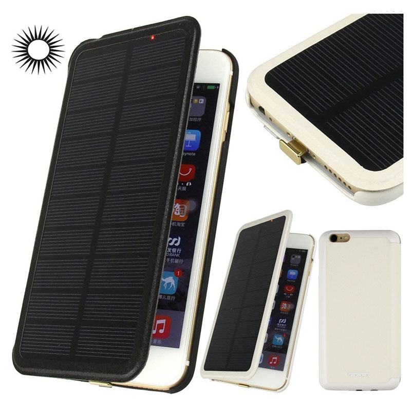 3 In 1 2800mAh Solar Cell Phone Charger Case for iPhone