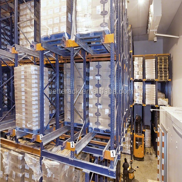 CE certified Automated Pallet Storage System Metal Radio Shuttle Rack
