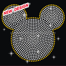 Korean hot fix rhinestone Mickey crystal rhinestone transfer X 1 (14)