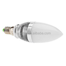 Clear Glass Epistar 85-265V dimmable Warm White Color E14 led candle bulb driver