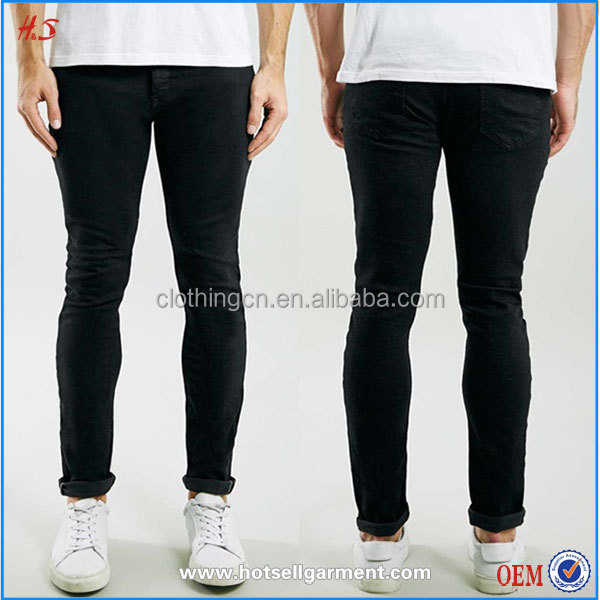 Alibaba China Manfacturer Competitive Price Of Men Black Selvedge Skinny Jeans With Premium Raw Stretch Denim