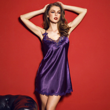 NS0018I Embroidery Romantic Nightgown Sexy Hollow Women Lounge Sleepwear