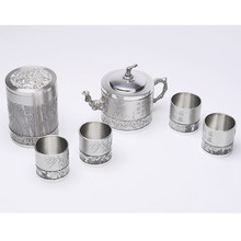Luxury tea pot set coffee pot with cups and tea tin