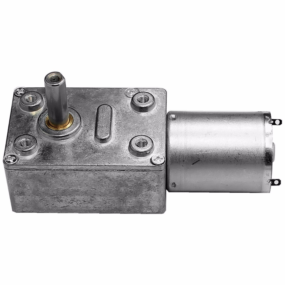 High quality reduction 12v 24v dc worm gear motor with self-lock