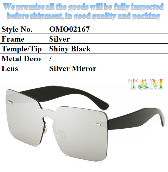 "2017 Fashion Goggle for Women ""New Sunglasses, Classic sunglasses, Plastic Sunglasses, Rimless Sunglasses"" OMO02167"