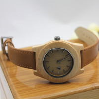 New wholesale wood smart wrist watch fashion quartz bamboo watch