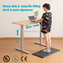 Adjustable Height Standing Desk with Electric Push Button Grey Base