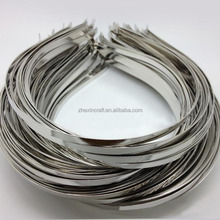 5mm width thin Custom plain bulk metal headband for DIY hair accessories