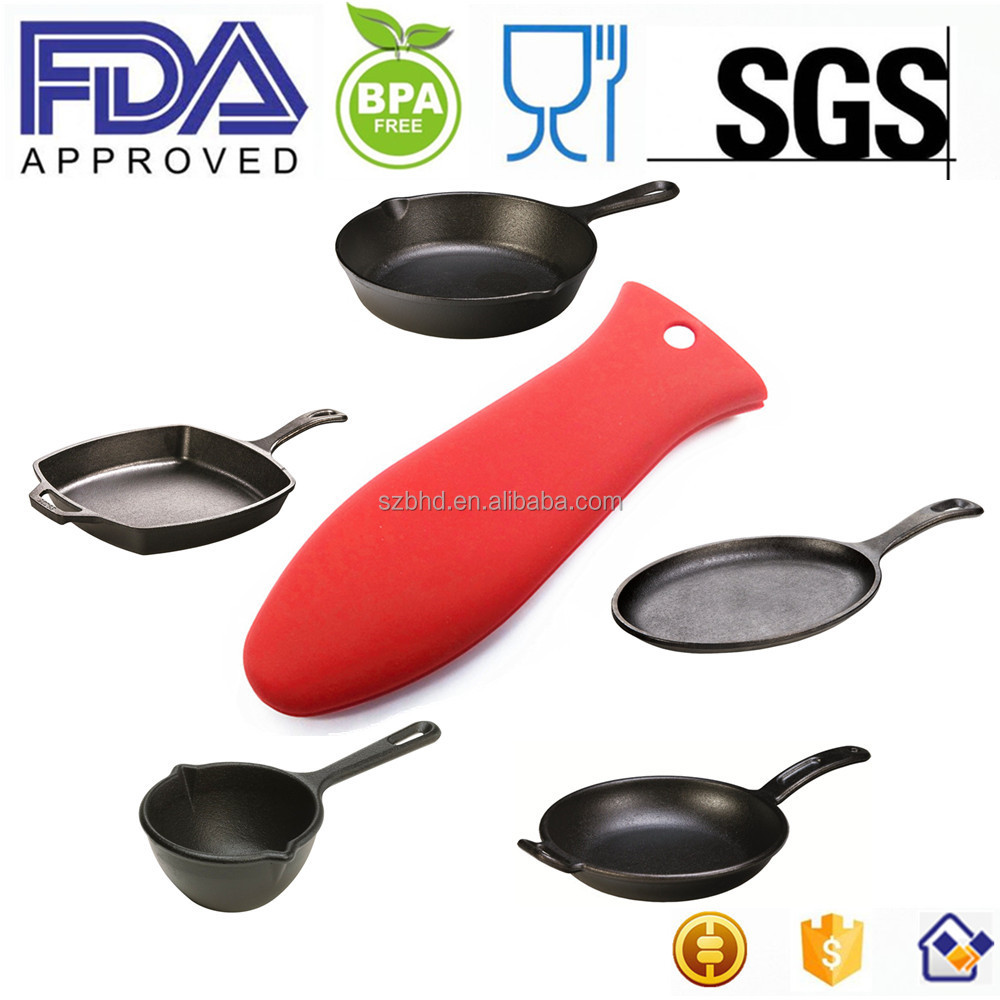 FDA Hot Silicone Pot Handle Holder/pan handle/Cookware Handle, Heat Resistant Silicone Hot Handle Holders