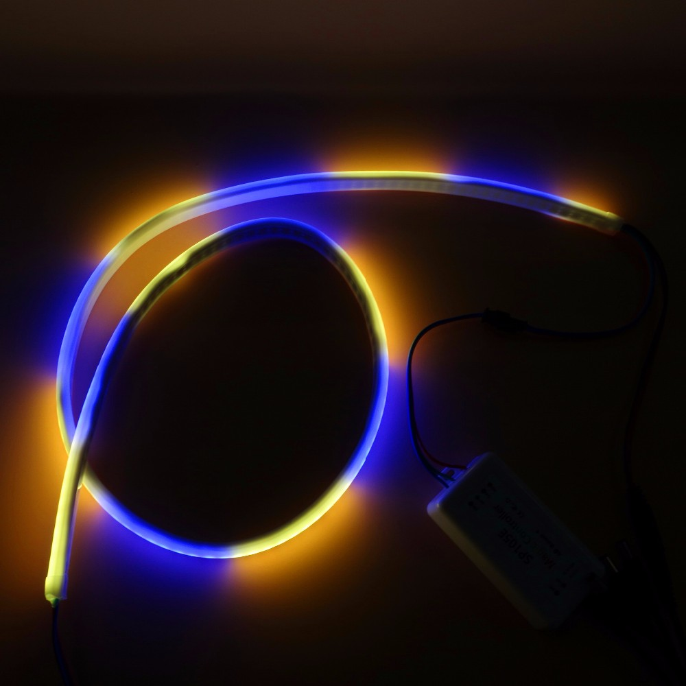 1m long DC5V WS2812B 144pixels/m addressable neon pixel light,RGB full color;144pcs WS2812B per m;waterproof in milky tube;IP66