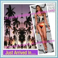 Custom PBT Polyester Digital Print Swimwear Fabric