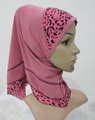 H319 beautiful small girl combine hijab,new style scarf hijab