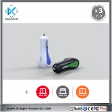 Cell Phone Fast 3USB Travel USB Car Charger