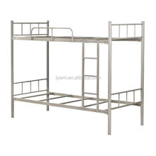 Twin bunk/double bed for teenager's rooms with sturdy metal frames