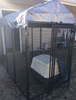 Weatherproof powder-coated galvanized steel outdoor dog cage/cheap dog house/dog kennels hot sale