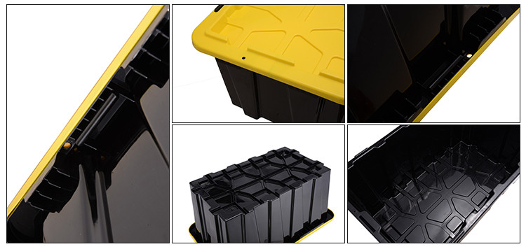 Customized various color high quality big plastic storage bins