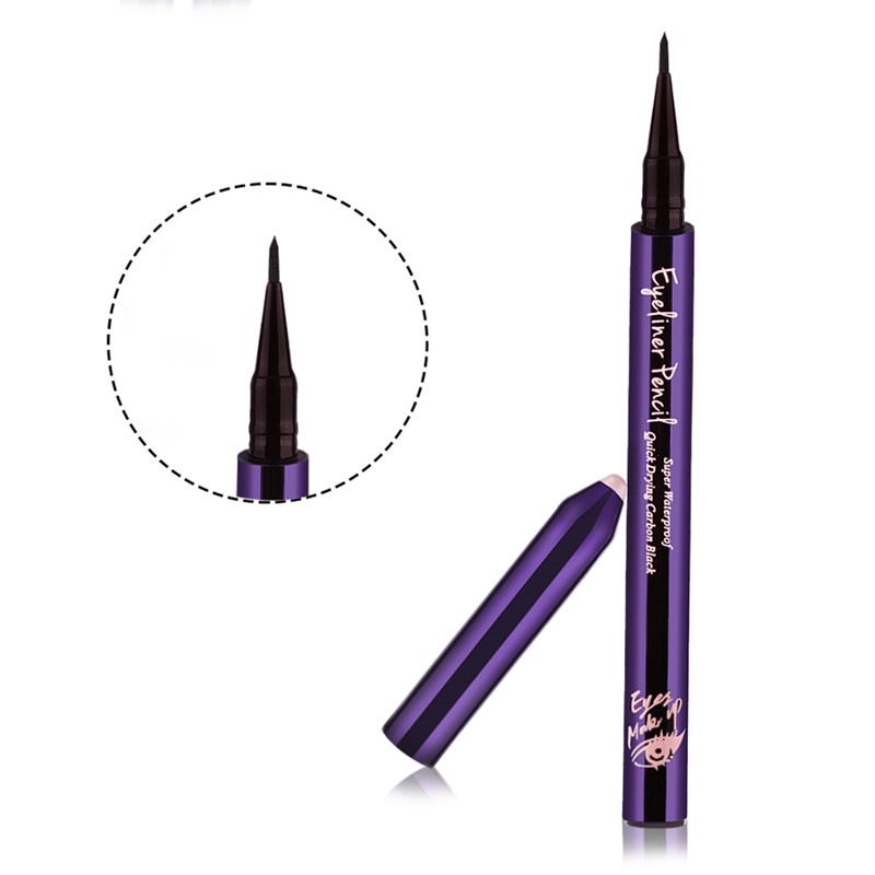 Eyeliner Pencil Waterproof Black Liquid Eyes Liner Pen 24 hours Long-lasting Cosmetics Beauty Quick-Dry Makeup Delineador