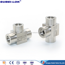 hose adapter for pipe, stainless steel T fitting, tee connector