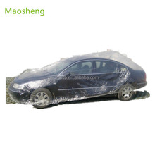 2017 PHot sales PE clear disposable car cover