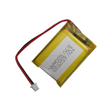 652533 li-ion 3.7v lithium polymer battery 550mah with pcb for tablet pc