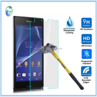 Wholesale handphone accessories 9H 2.5 round edge sides tempered glass screen protector for SONY Z1mini/ Z2mini/ Z3mini/ Z4mini
