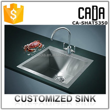 kitchens with high quality prefabricated rectangular cheap stainless steel small hand sink