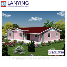 prefabricated steel frame house with low price