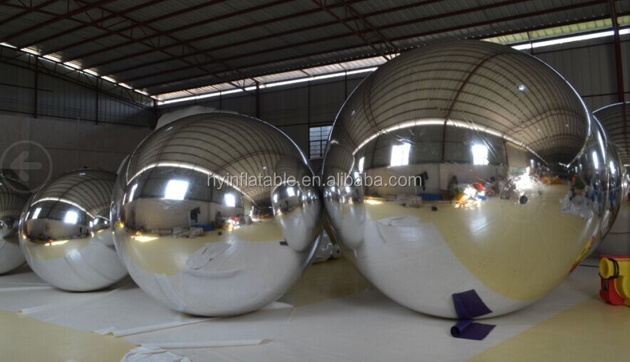2015 giant inflatable mirror balloon, inflatable silver balloon for advertising