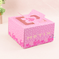 printed logo packaging design cheese cake box
