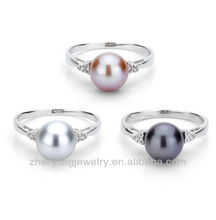 Big costume pearl rings vners,stainless steel changeable rings