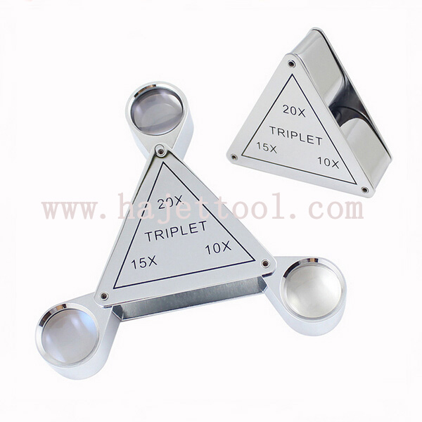 Triplet Jeweler Loupe Triplet Loupe Magnifier 10X/15X/20X Triplet Magnifier Eye Loupes