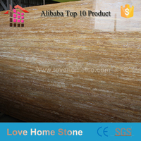Olished Italian Gold Travertine Marble Tile