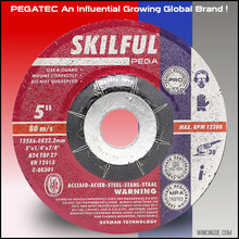 "5"" 125x6x22mm SKILFUL Grinding Wheel For Cast Iron /Metal/Steel"