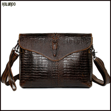 Wholesale laptop bag messenger fashion customized men's leather shoulder bags