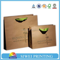 2016 New design Custom kraft paper bags / packaging paper / shopping gift bag with handle trade assurance supplier