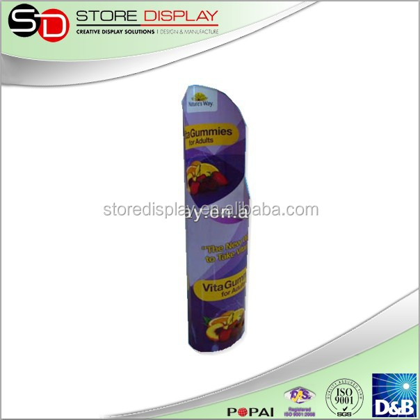 poster standee/corrugated paper display stand custom standee with 4C offset printing for supermarket