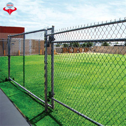 Electro galvanized chain link fence/pvc coated chain link wire mesh/Anping Fansi Factory