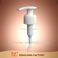 kinglong Cosmetic Packaging Manufacture Plastic PP Lotion Sprayer Pump For Shampoo Bottle K-L01C