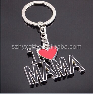 2016 Top Quality Mother's Day Keychain/ Keyrings button opener /metal key holders for Promotion decorative