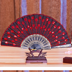 Amazon ebay fabric silk paper plastic bamboo chinese cover custom hand fan