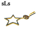 Star shape costume jewelry in dubai handmade silver jewellery earring yellow gold plated earring fashion