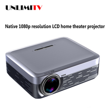Can be connected to phone miracast LCD 1080p full hd video projector