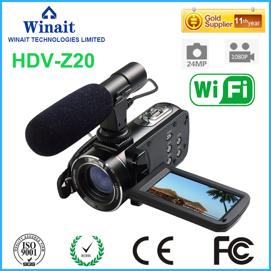2017 New Excellent Wifi Digital Video Camera Digital Camcorder 3inch Touch Screen 1080P Full HD External Speaker and Flash Light